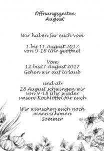 öffnugszeiten august bild